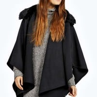 Abbey Cape With Detachable Collar