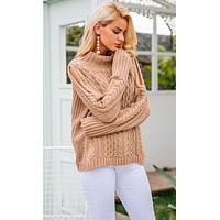 KALEY CABLE-KNIT