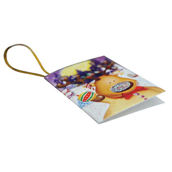 10pcs Cards Christmas ThemeTree Ornaments Hanging Card Greeting Cards Gift Tags