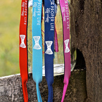 "LIGHT BLUE - ""The Proper Life"" Croakies"