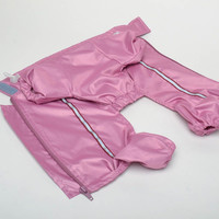 Pink handmade clothing for dog raincoat outerwear pink sweaters apparel coats