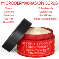Microdermabrasion Vitamin Facial Scrub - Unscented Highest Purity Exfoliator
