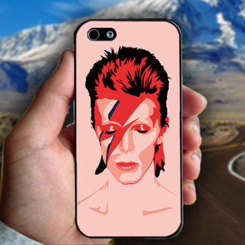Ziggy Stardust David Bowie - Print on hard plastic case for iPhone case. Select an option