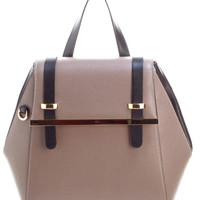 Portofino-Taupe Saffiano Leather Convertible Backpack Tote