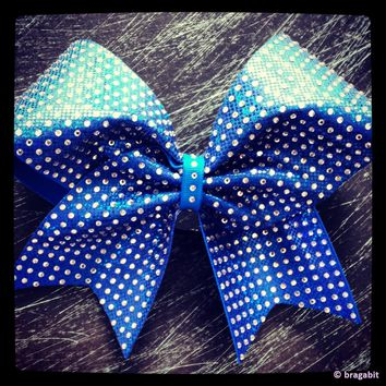 Rhinestones cheer bow. Different colors are available.