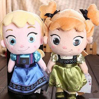 Frozen Elsa And Anna Princess Plush Toy - Great Christmas Gift