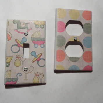 Baby or Nursery Design Light Switch and Outlet by myevilfriend