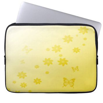 Sunshine Flowers n Butterflies Laptop Computer Sleeves