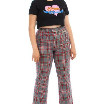 Vintage 70's Dorette Americana Wool Plaid Trousers - L