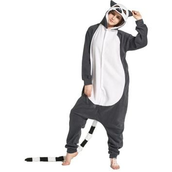 Kigurumi Rabbit Cat Lemur Owl Fish Scale Onesuit Adult Women Man Jumpsuit Onepiece Overall Cosplay Costume