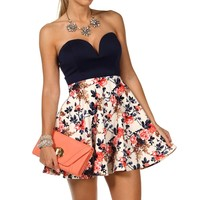 Sale-strapless Short Dress