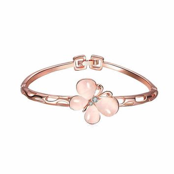Rose Gold Butterfly Bangle