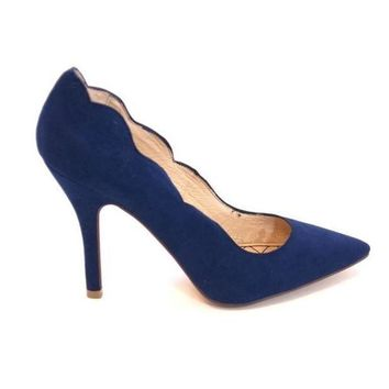 Chinese Laundry Savvy   Blue Scallop Edge High Heel Pump
