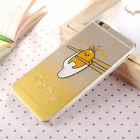 Hot Fashion cartoon gudetama Case for iphone 6 Egg partern for iphone 6 4.7 inch Mobile phone shell freeshipping=CA190