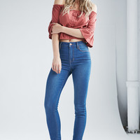 Bullhead Denim Co. Azure Indigo Super High Rise Skinny Jeans at PacSun.com