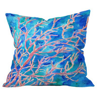 Rosie Brown Coral Fan Pillow