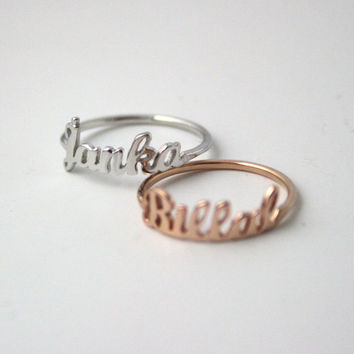 Personalized Name Ring ~ Name Ring ~ Initial Ring ~ Engraved Ring ~ Birthday Gift ~ Valentines Day Gift ~ Bridesmaid Ring ~ Sterling Silver