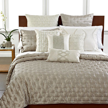 Hotel Collection Finest Luster Silk Quilt Collection, Only at Macy's | macys.com