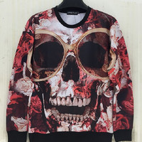 Sweatshirt With Skull Pattern FREE SHIPPING!!!