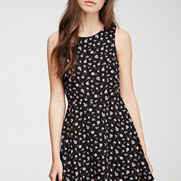 Ditsy Floral A-Line Dress