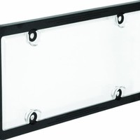 Bell Automotive 22-1-45601-8 Black License Plate Frame with Clear Cover