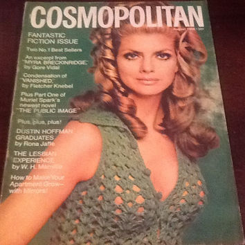 Cosmopolitan Magazine August 1968 Cover Heather Hewitt