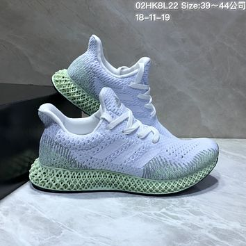 HCXX Adidas Futurecraft 4D Print Breathable Comfortble Running Shoes White Green