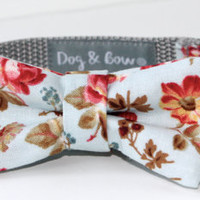 Flower Dog Collar with Removable Bow Tie