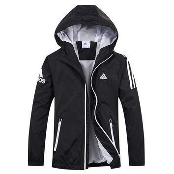 One-nice™ Adidas Men Cardigan Jacket Coat Windbreaker