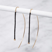 Thread-Wrapped Threader Earrings