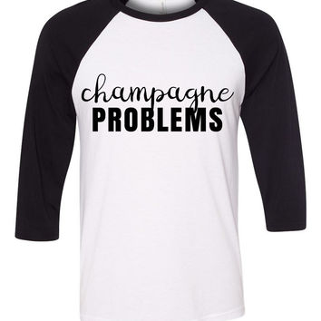 "Nick Jonas ""Champagne Problems"" Baseball Tee"