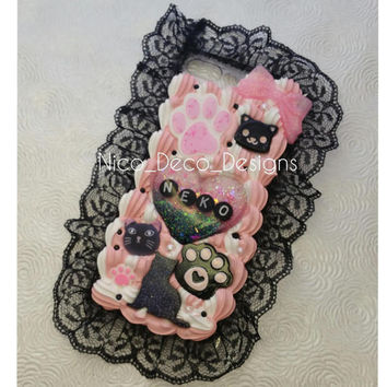 DDLG Neko kitten play decoden phone case iPhone 7 PLUS