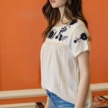 Rosabelle Embroidered Top