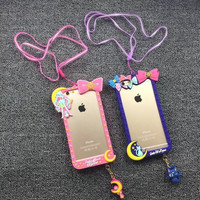 Lovely Iphone Phone Case Apple Soft Silicone Phone Case [6283962182]