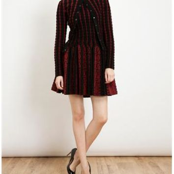 AZZEDINE ALAÏA | Textured Virgin Wool-blend Dress | brownsfashion.com | The Finest Edit of Luxury Fashion | Clothes, Shoes, Bags and Accessories for Men & Women
