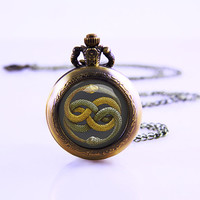 The Never Ending Story,, Vintage Game Pocket watch necklace , pocket watch jewelry, mothers gift