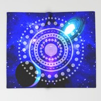 Electric blue universe Throw Blanket by Haroulita   Society6