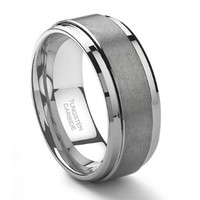 9MM Tungsten Carbide Men's Wedding Band Ring in Comfort Fit and Matte Finish Size 7-16:Amazon:Jewelry