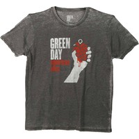 Green Day Men's  American Idiot Vintage Vintage T-shirt Grey