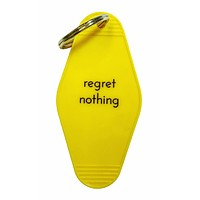 Regret Nothing Keychain in Bright Yellow