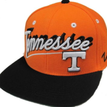 Tennessee Volunteers Zephyr Orange Shadow Script Snapback Hat