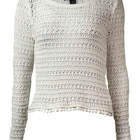 INC International Concepts Women's Crochet Cropped Sweater
