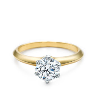 Tiffany & Co. | Engagement Rings | The Tiffany® Setting 18K Yellow Gold | United States