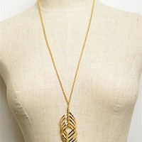 Long Spiral Necklace