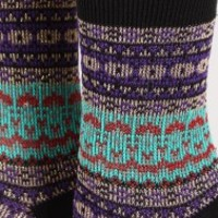Metallic Pattern Print Socks