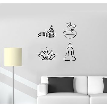 Vinyl Wall Decal Spa Salon Massage Relaxing Bathroom Decorating Stickers Mural (ig6033)