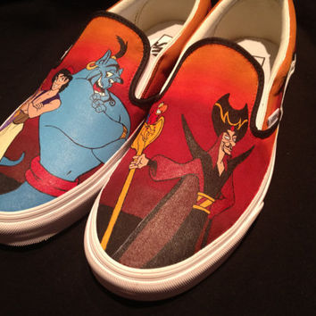 Custom Hand Painted Shoes - Aladdin Vans