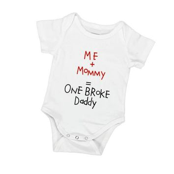 Baby's Printed Bodysuit - One Broke Daddy