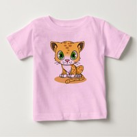 CUTE CAT t-shirts for baby & kids