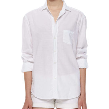 Eileen Long-Sleeve Cotton Shirt,